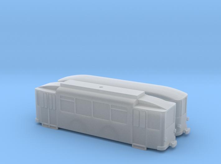 Tram TW 105 + Beiwagen (Türen beidseitig) 1/220 3d printed