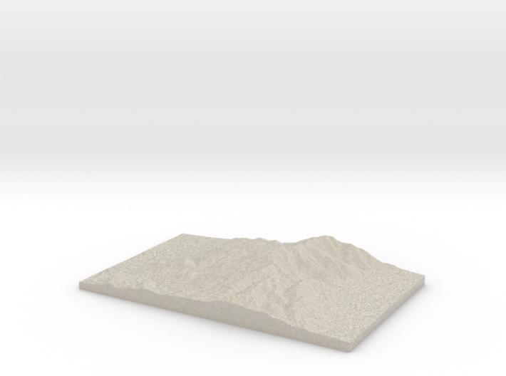 Model of Mount Tobin 3d printed