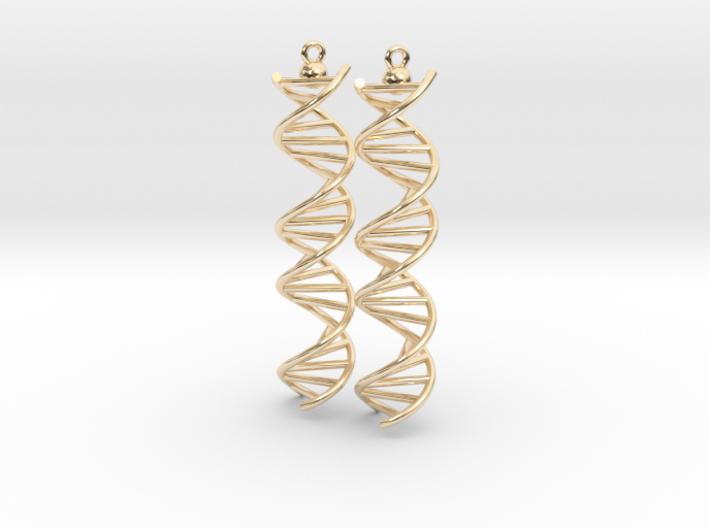 DNA Molecule Earrings, ladder, 2 pieces. 3d printed