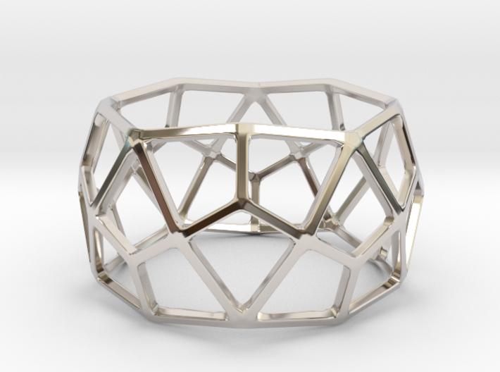 Catalan Bracelet - Deltoidal Hexecontahedron 3d printed
