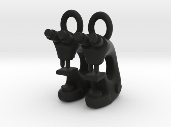 Microscope Earrings  3d printed