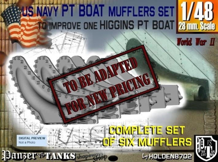 1-48 PT Higgins Muffler Set 3d printed