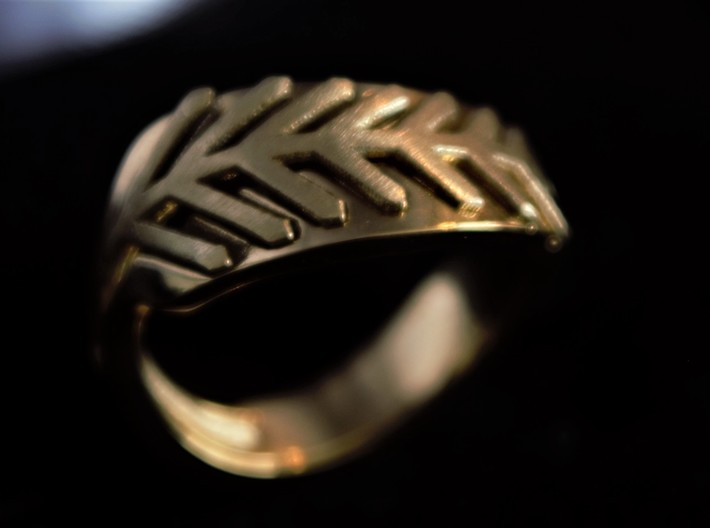 Palm ring external 3d printed Gold/Brass print