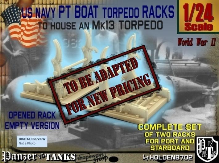 1-24 PT Torpedo Rack TypE Empty 3d printed