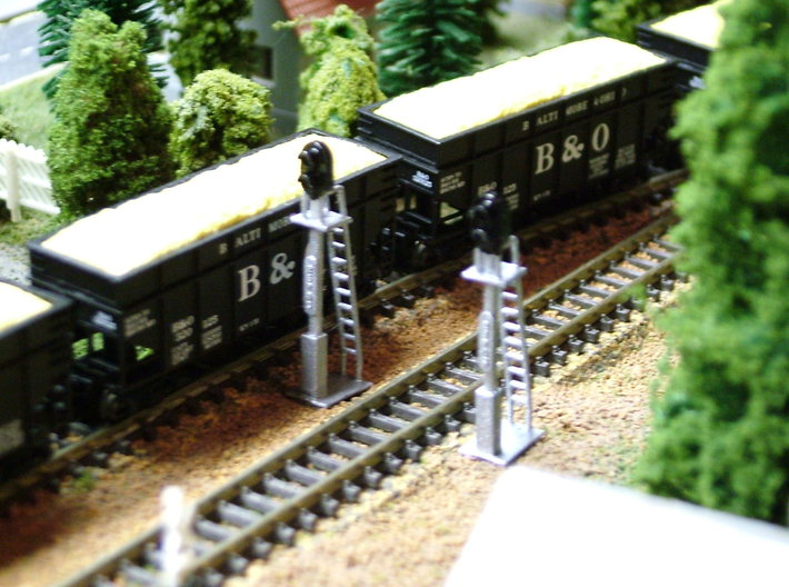8 Signal Lights 3d printed Photo and Painted by Walter Smith
