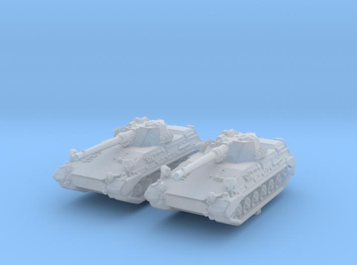 1/285 (6mm) German Begleitpanzer 57 Light Tank x2 3d printed 1/285 (6mm) German Begleitpanzer 57 Light Tank x2