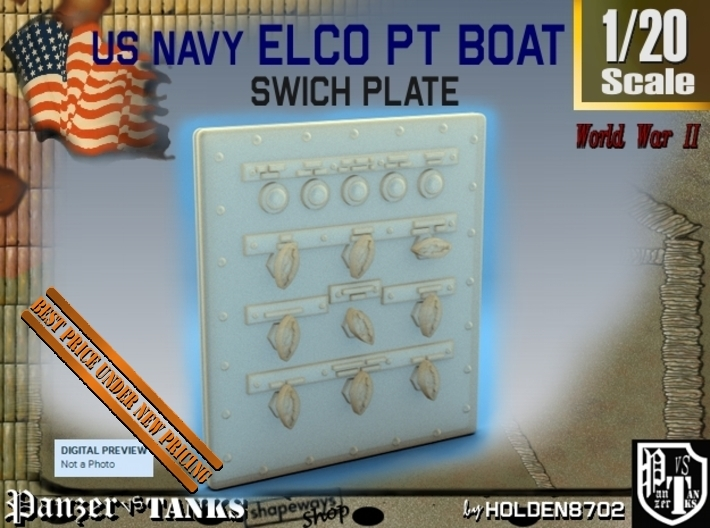 1-20 PT Boat Swich Plate 3d printed