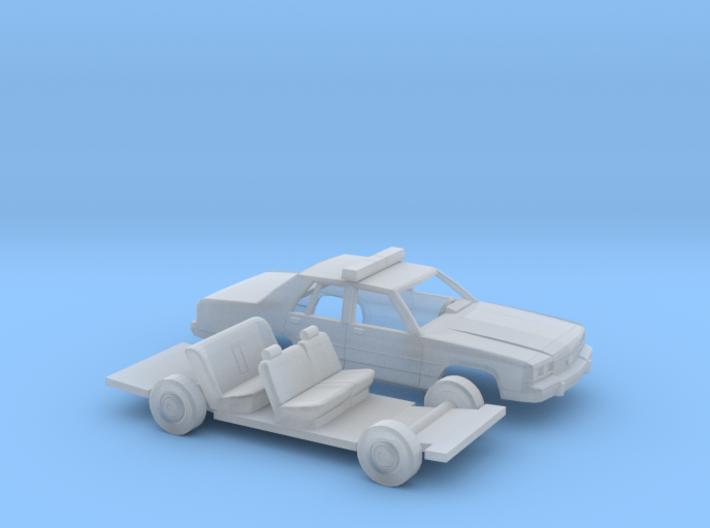1/87 1989 Ford Crown Victoria Police Kit 3d printed