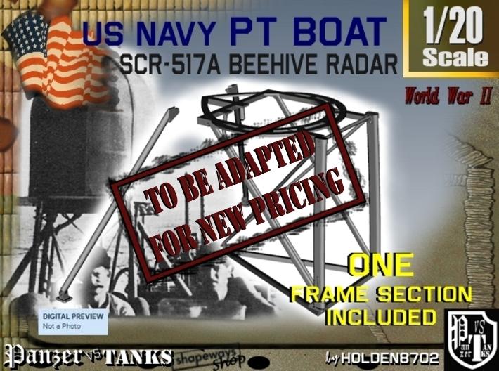 1-20 PT Boat Beehive Radar Frame 3d printed