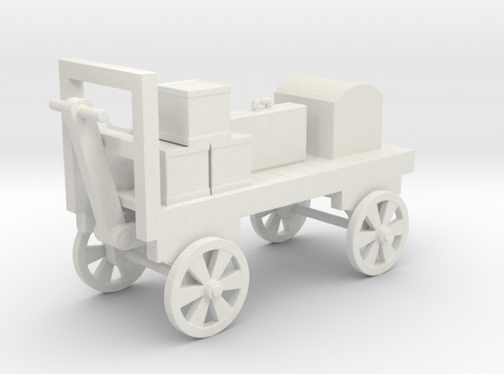 Baggage Cart Loaded - HO 87:1 Scale 3d printed