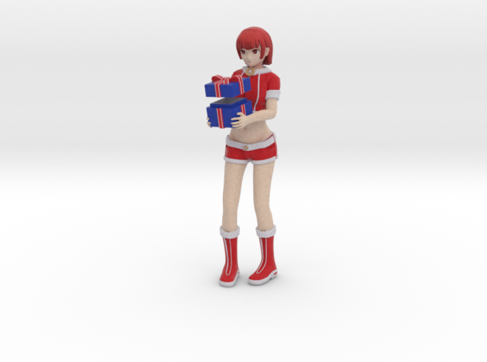 """Santa Girl"" Figure (Full Color) 3d printed"