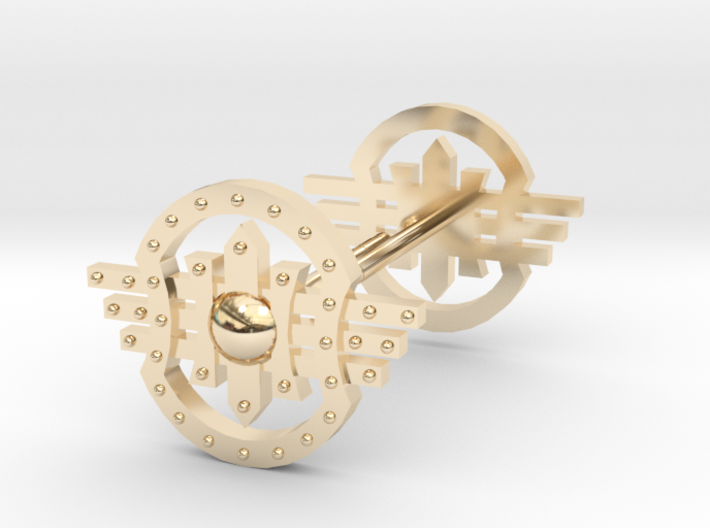 Shields Earring 3d printed