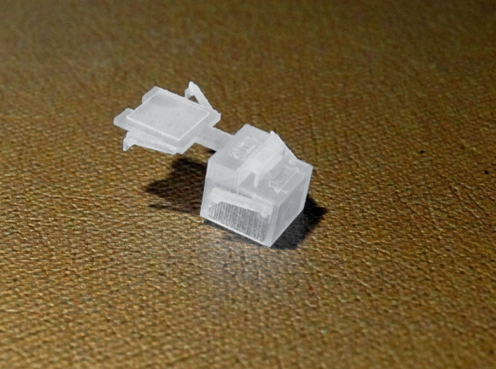 """""""State of Maine""""-style HO Charcoal Heater Kit 3d printed All heaters consist of a hollow main body and a separate back plate, connected by a small sprue."""