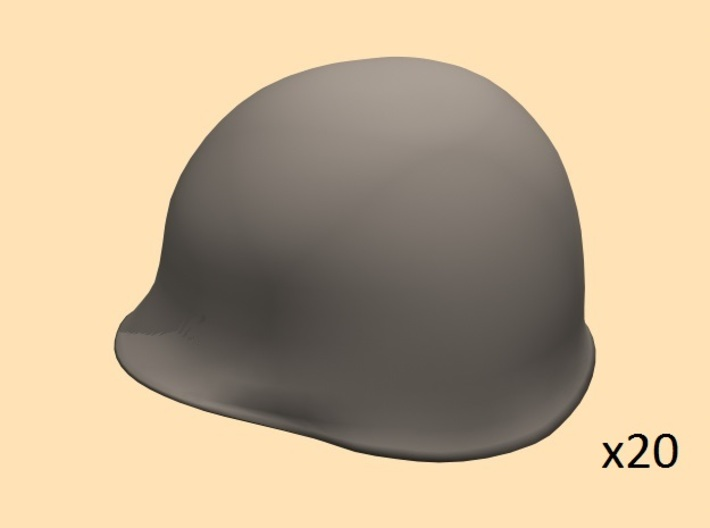 28mm WW2 U.S. steel helmet 3d printed