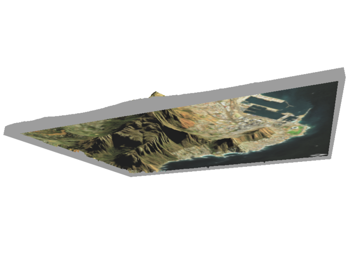 """Table Mountain Map: 8.5""""x11"""" Portrait 3d printed"""