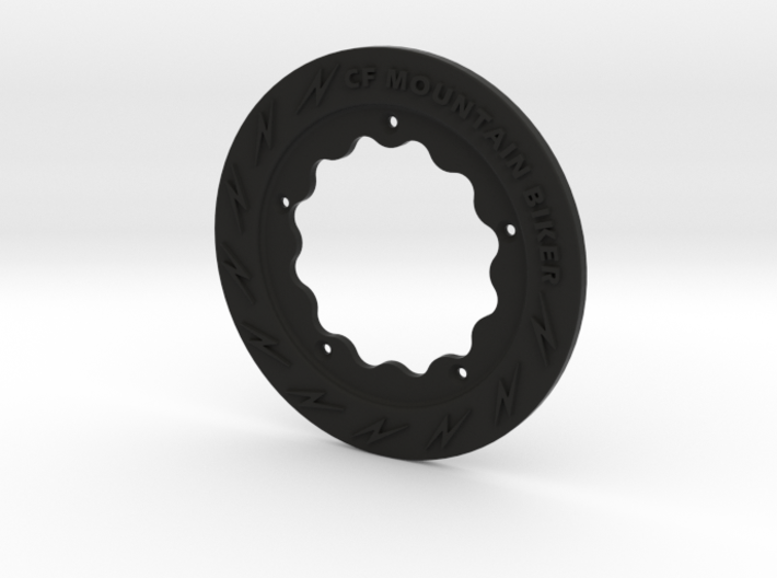 Custom Bicycle Chain Ring Guard 36 tooth 3d printed Black Nylon Color