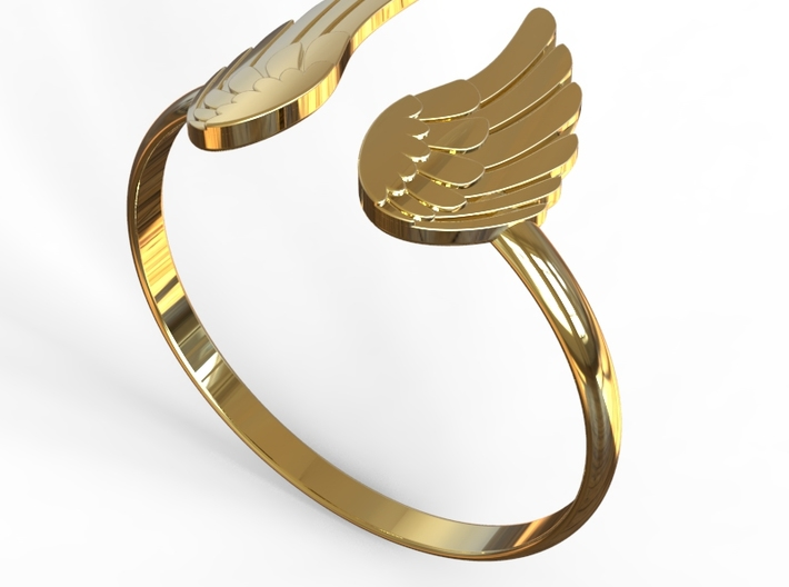 Winged Ring-SMK 3d printed