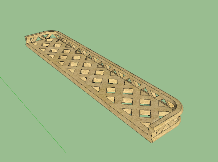 HO Pullman Parlor Car Luggage Racks Kit 3d printed Brass paint is recommended!