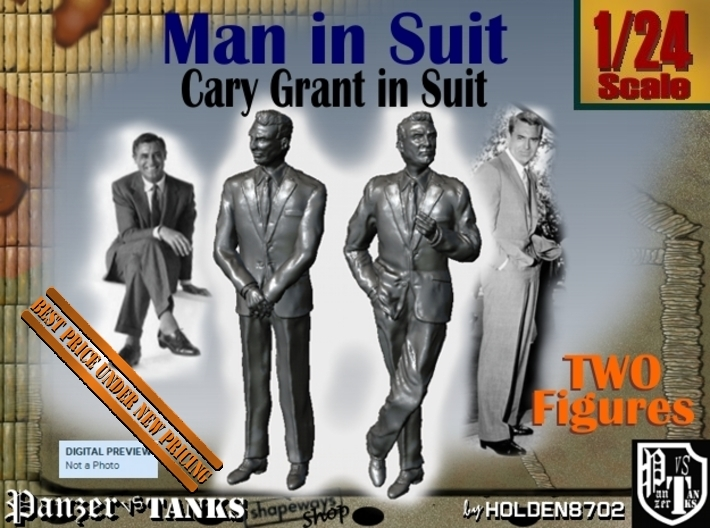 1-24 Cary Grant In Suit Two Figures 3d printed