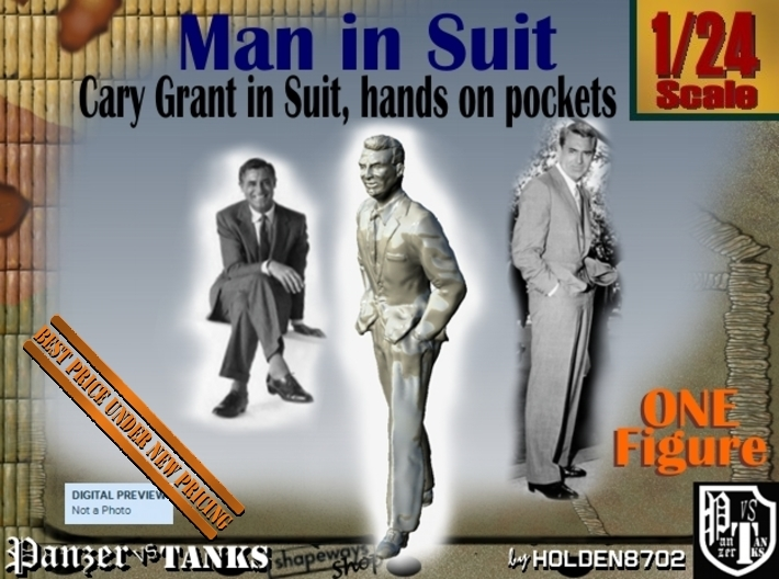 1-24 Cary Grant In Suit Hands Pockets 3d printed