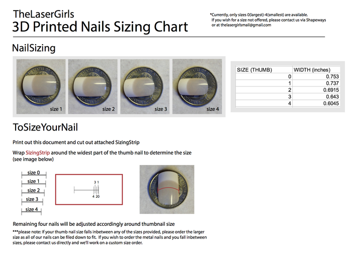 Cube Nails (Size 4) 3d printed DOWNLOAD SIZING CHART HERE: https://www.dropbox.com/sh/ec9z2j5kbkhsmrr/NRj3pCqOZP