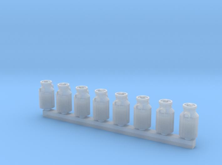 8 Milchkannen (N 1:160) 3d printed