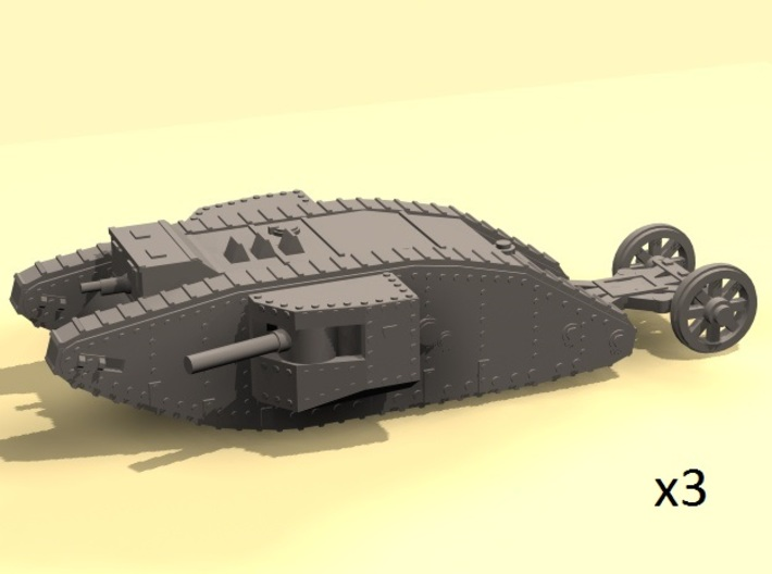 1/220 Mark I Male tank 3d printed