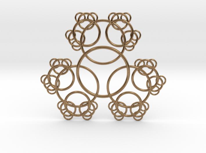 Fractal Blossom Pendant 3d printed
