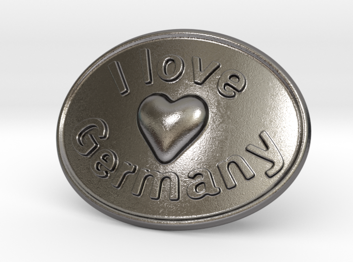 I Love Germany Belt Buckle 3d printed