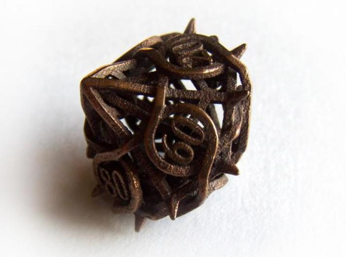 Thorn Decader Die10 3d printed In antique bronze glossy