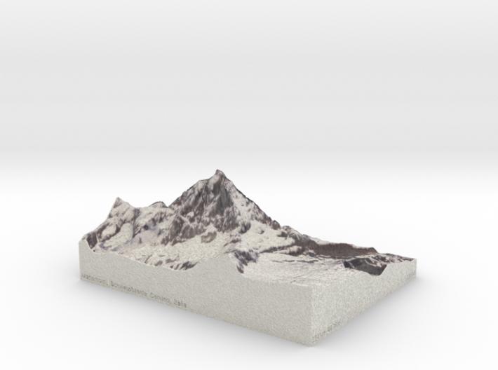 Matterhorn, Switzerland/Italy, 1:25000 3d printed
