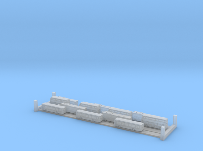 Plaxton Bus And Coach Set (1:1250) 3d printed