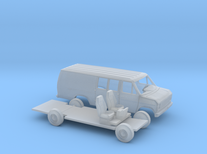 1/160 1975-91 Ford E Series Ext. Delivery Kit 3d printed