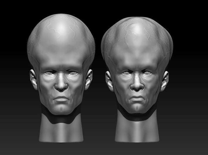 Talosian variant 1 - 1:6 scale 3d printed This is only the head on the right!