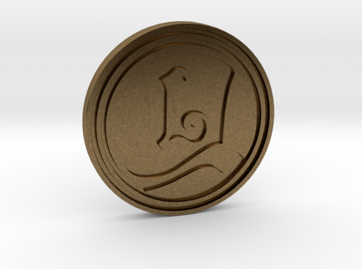 """""""The Layton Series 10th Anniversary 2017"""" coin 3d printed"""
