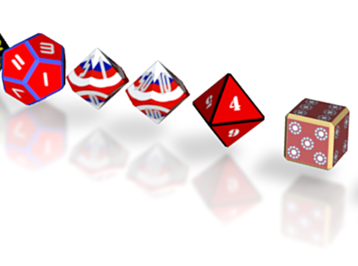 Superhero Dice Set 3d printed