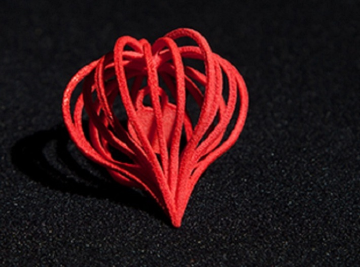 Pendant Heart In Heart 3d printed