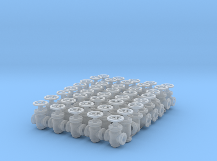 """40 Valves (various designs) for 2.4mm (3/32"""") Rod 3d printed"""