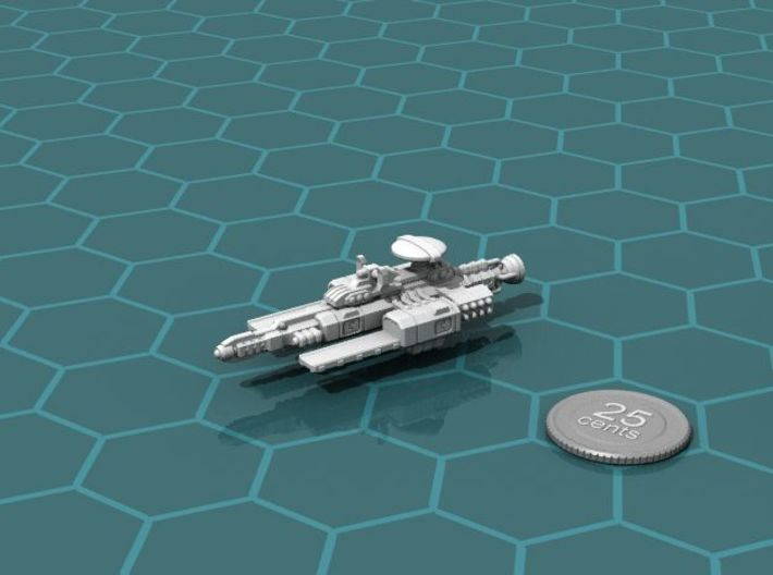 Chukulak Light Carrier 3d printed Render of the model, with a virtual quarter for scale.