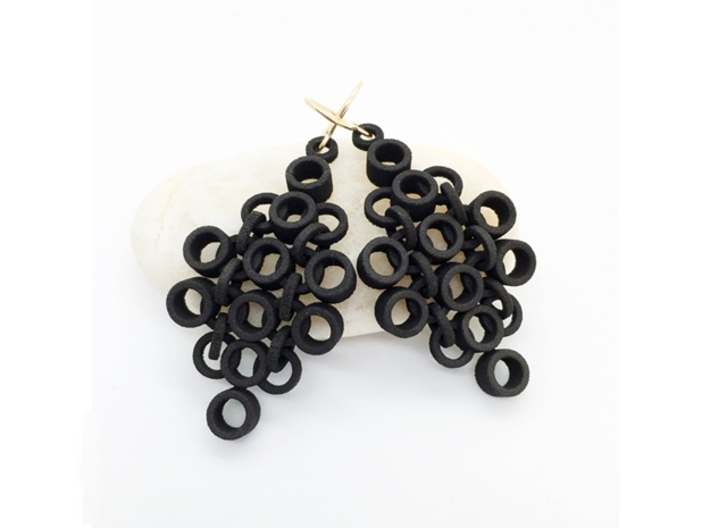 Geometric Statement Earrings 3d printed Chainmaille type earrings