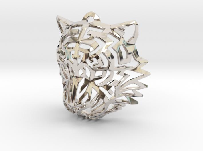 Tiger Head Pendant 3d printed
