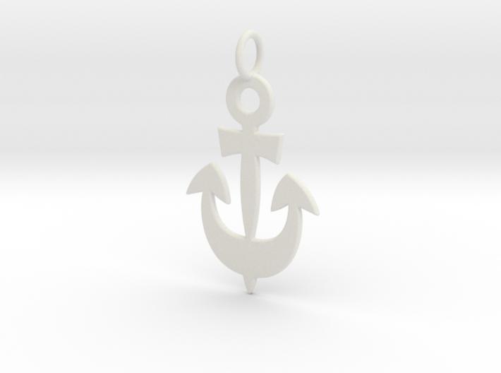 Anchor Symbol Pendant Charm 3d printed