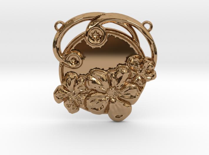 Art Nouveau Repoussé Flower Pendant SMK 3d printed