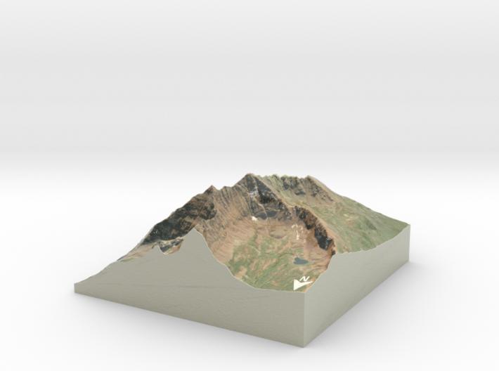 """Maroon Bells Map: 6"""" 3d printed"""