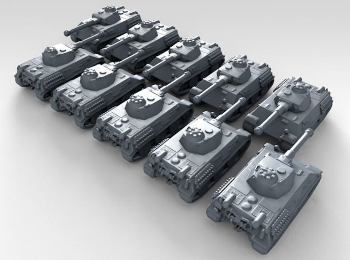 1/600 German VK 2801 Light Tank x10 3d printed 3d render showing product detail
