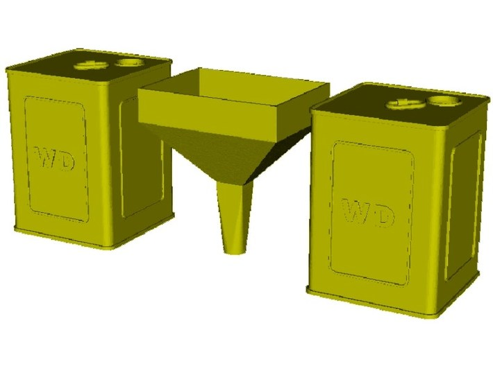 1/35 scale WWI flimsies 4 gal fuel canisters x 2 3d printed