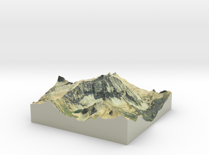 "Capitol Peak Map: 6"" 3d printed"