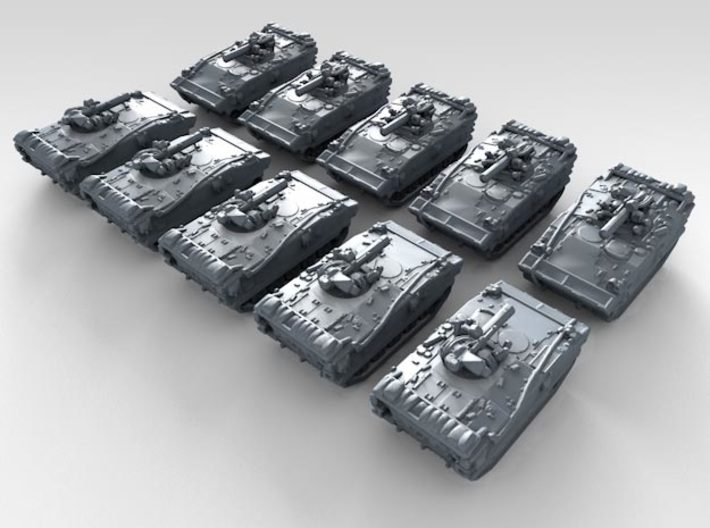 1/600 French AMX-10P Infantry Fighting Vehicle x10 3d printed 3d render showing product detail