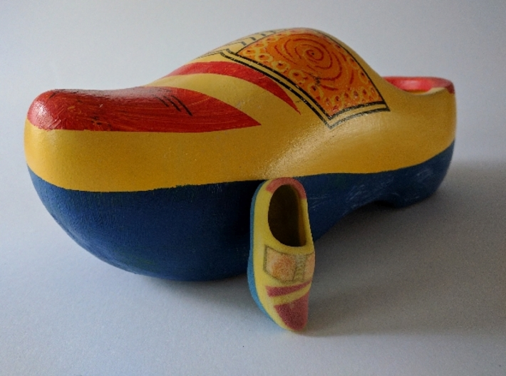 Just a Wooden Shoe 3d printed The way they usually are stored