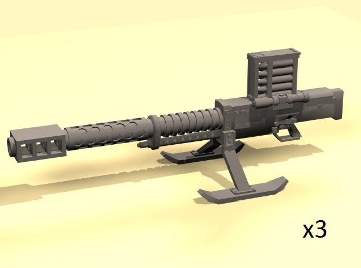SciFi Lahti automatic cannon (x3) 3d printed
